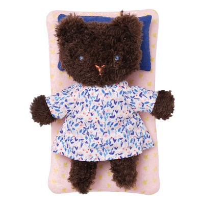 Manhattan Toy Little Nook Bluebell Bear Stuffed Animal with Removable Clothing, Sleeping Bag & Keepsake Box