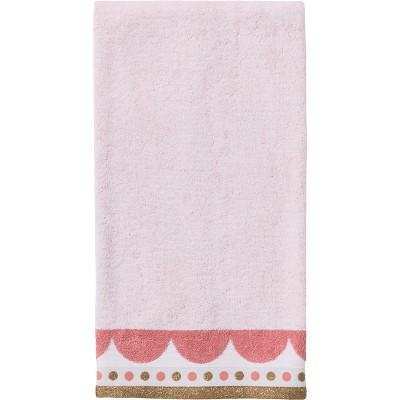 Pom Pom Hand Towel Pink/Gold - Pillowfort™
