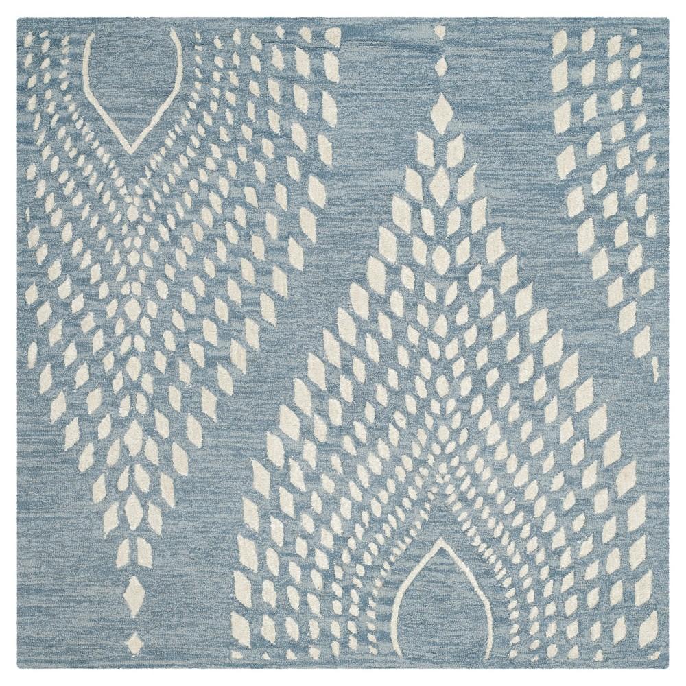 Bella Rug Blue Ivory 5 39 X5 39 Square Safavieh