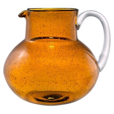 Artland Iris 2.7L Glass Pitcher Amber