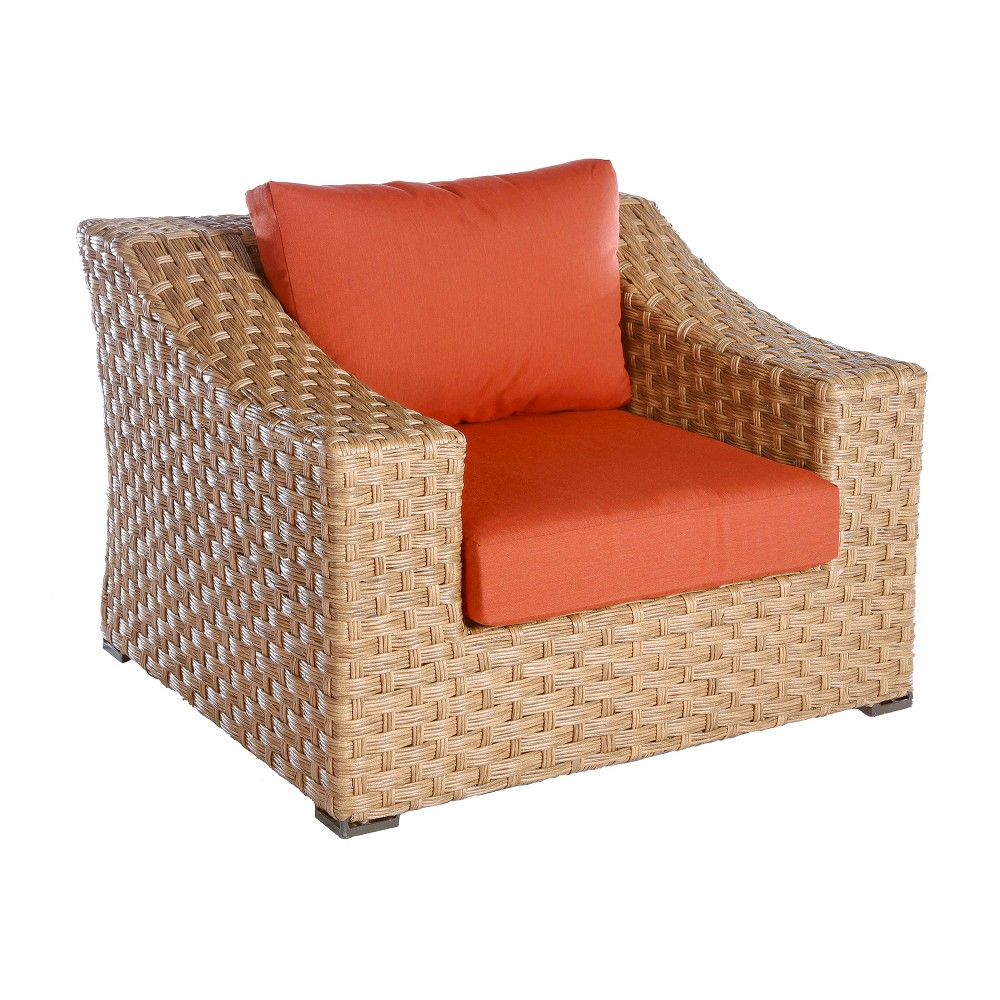 Image of AE Outdoor Elizabeth Patio Club Chair - Brick