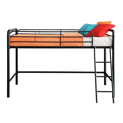 Adeline Junior Metal Loft Bed Black - Room & Joy