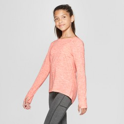Girls' Pleated Back Long Sleeve T-Shirt - C9 Champion®