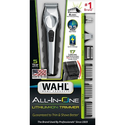 Wahl Lithium Ion Multi-Groomer Men's Beard, Facial & Total Body Groomer - 9888-600