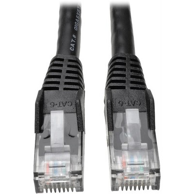 Tripp Lite 7ft Cat6 Gigabit Snagless Molded Patch Cable RJ45 M/M Black 7' - 7ft - 1 x RJ-45 Male - 1 x RJ-45 Male - Black