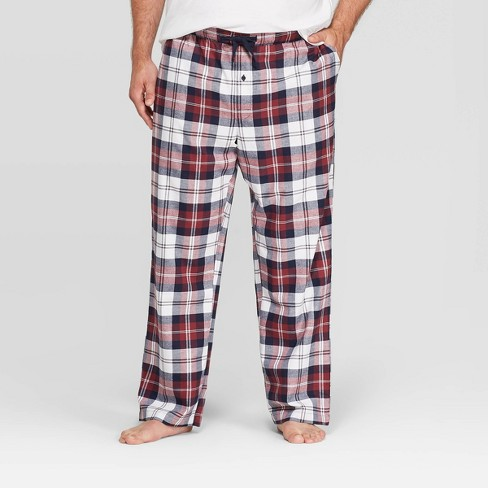 Men's Big & Tall Plaid Flannel Pajama Pants - Goodfellow & Co™ Burgundy - image 1 of 2