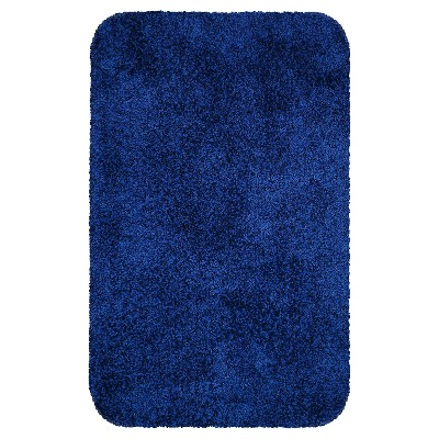 24 x17  Solid Bath Rug Dark Blue - Room Essentials™