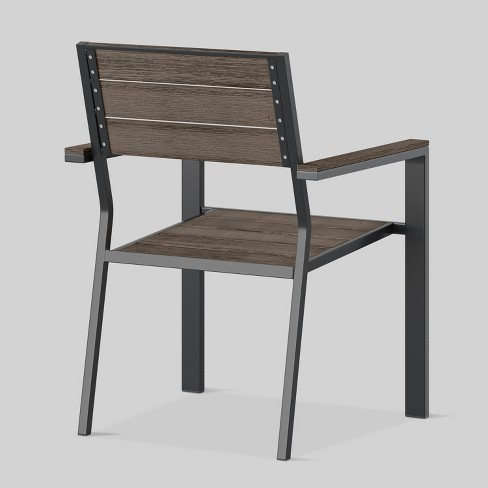 + 3 more - Mantega 2pk Faux Wood Patio Dining Chairs - Project 62™ : Target