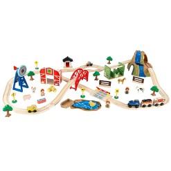 KidKraft Farm Train Set, mini figures