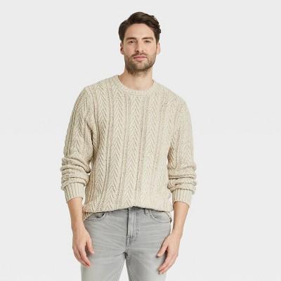 Men's Regular Fit Crewneck Pullover Sweater - Goodfellow & Co™