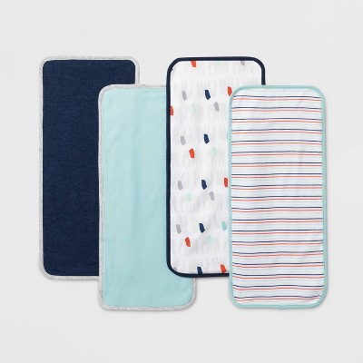 Baby Boys' 4pk Burp Cloths - Cloud Island™ One Size
