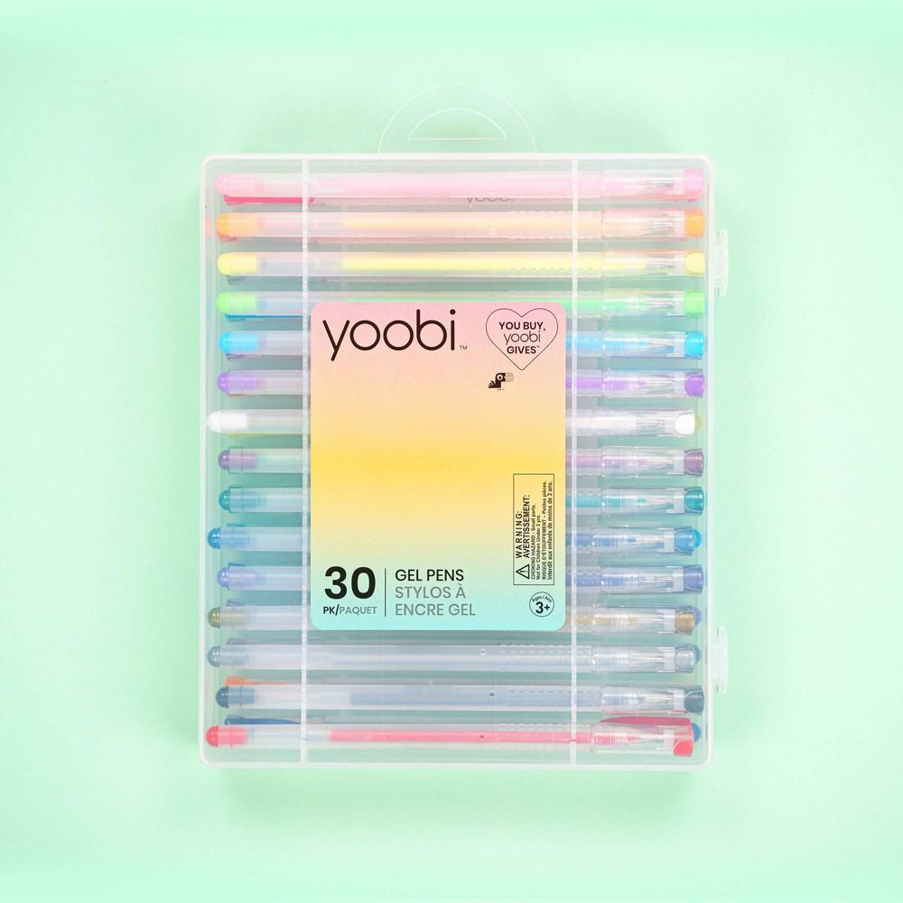 Yoobi 8482 30pk Gel Pens Set Multicolor