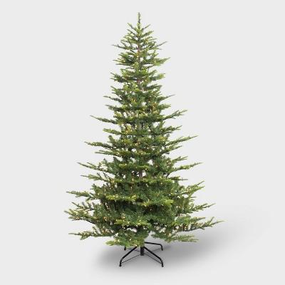 7.5ft Pre-lit Full Sierra Pine Artificial Christmas Tree with Metal Stand Clear Lights - Wondershop™