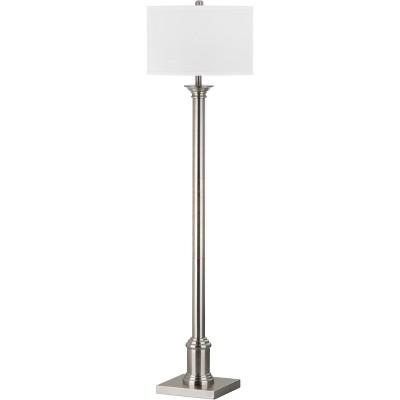 "60"" Livia Floor Lamp Nickel (Includes CFL Light Bulb) - Safavieh"