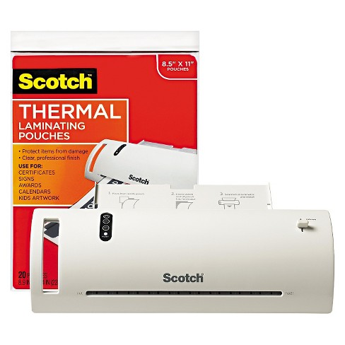 "Scotch™ Thermal Laminator Value Pack, 9"" W, with 20 Letter Size Pouches - image 1 of 1"
