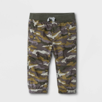 Baby Boys' Camo Woven Pull-On Pants - Cat & Jack™ Fern Green 0-3M