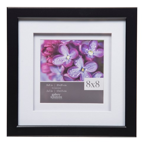 Single Image 8x8 Wide Double Mat Black 5x5 Frame Gallery Solutions