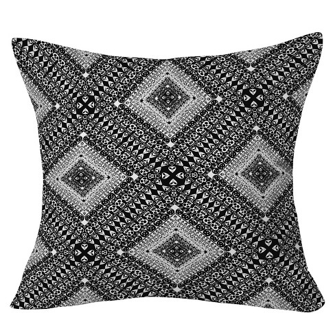 "Black Aimee St Hill Hallows Eve Patchwork Throw Pillow (20""x20"") - Deny Designs® - image 1 of 3"