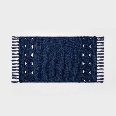 "34"" x 20"" Braided Kitchen Rug Blue - Opalhouse™"