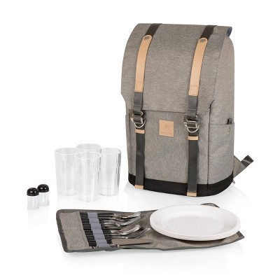 Picnic Time PT-Frontier Picnic Backpack - Heathered Gray