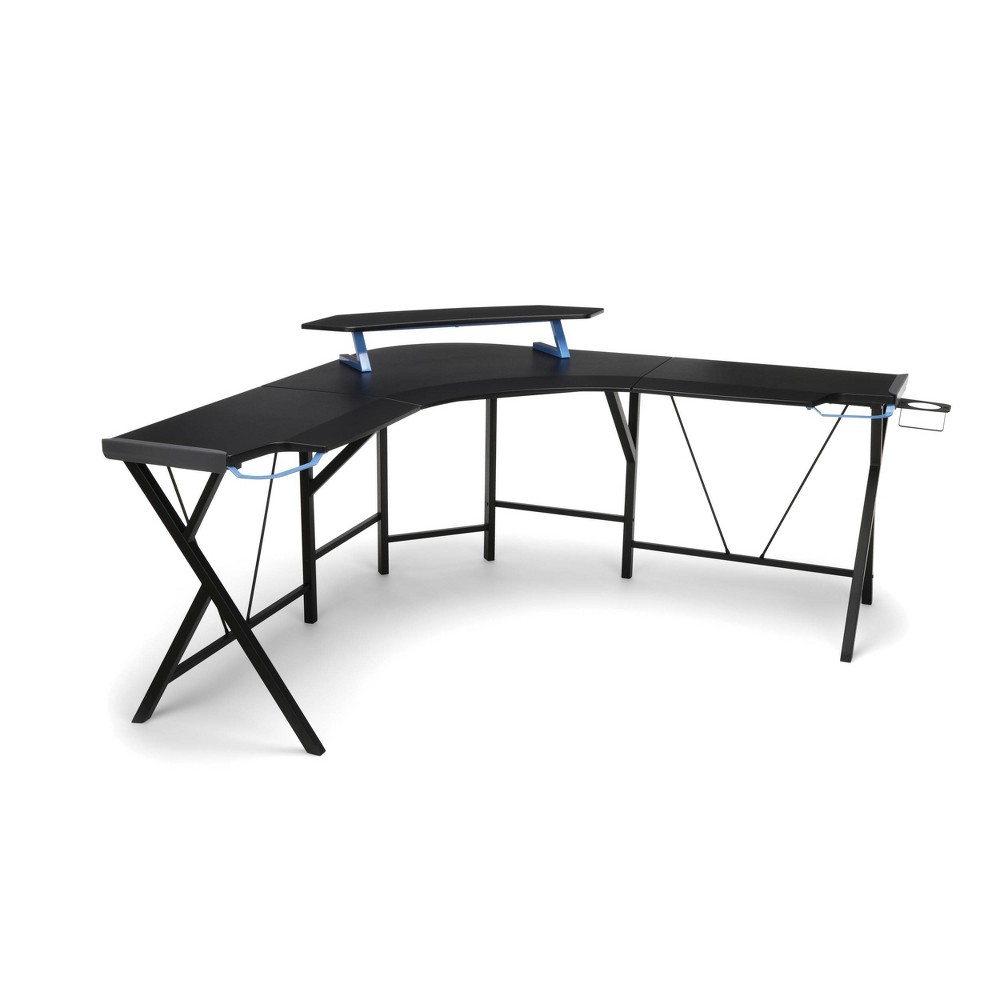 Image of 2000 Gaming L Shaped Computer Desk Blue - RESPAWN