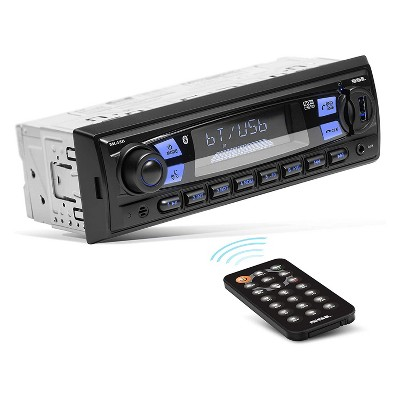 Soundstorm ML43B Powerful Mech-Less Single DIN Convenient Hands Free Bluetooth MP3 Smartphone Vehicle Car Radio Stereo System with Wireless Remote