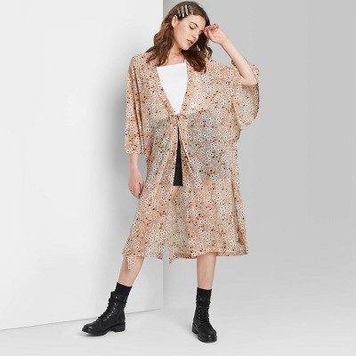 Women's Floral Print Duster Wild Fable™ - Brown One Size