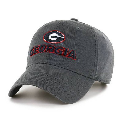 NCAA Georgia Bulldogs Men's Charcoal Gray Clean Up Fabric Washed Relaxed Fit Hat