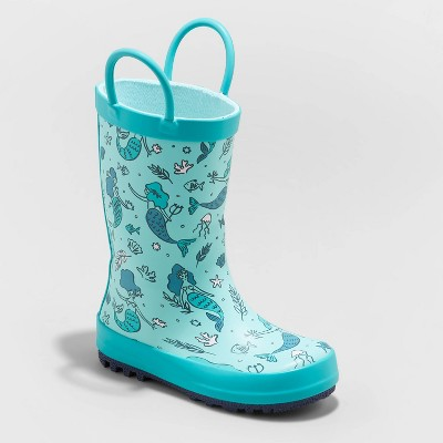 Toddler Girls' Odelia Rain Boots - Cat & Jack™ Blue