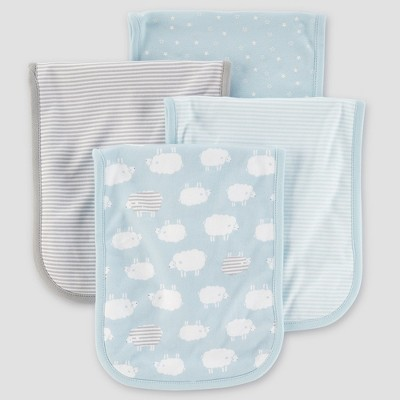 Baby Boys' 4pk Burpcloths - Just One You® made by carter's Blue Sheep One Size