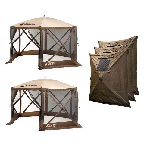 Clam Quick Set Escape Portable Outdoor Canopy (2 Pack) + Wind and Sun Panels - image 1 of 4