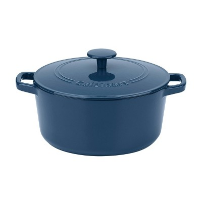 Cuisinart Chef's Classic 5qt Blue Enameled Cast Iron Round Casserole with Cover - CI650-25BG