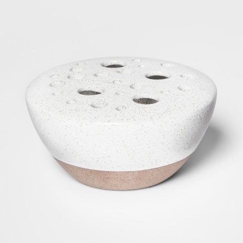 Stoneware Vase Speckled Glaze - White - Smith & Hawken™ - image 1 of 1