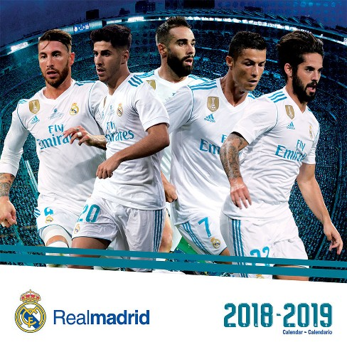 2019 Wall Calendar Real Madrid (17 month) - Trends International - image 1 of 4
