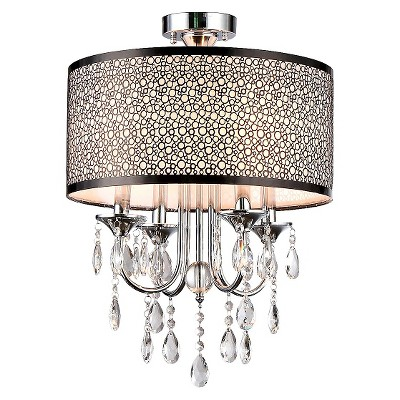 Warehouse Of Tiffany Chandelier Ceiling Lights - Silver