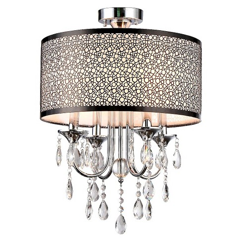 Warehouse Of Tiffany Chandelier Ceiling Lights - Silver - image 1 of 1