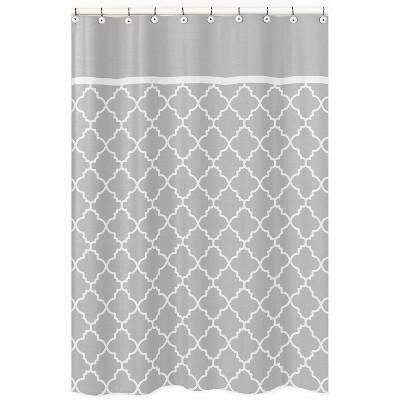 Trellis Shower Curtain Gray - Sweet Jojo Designs