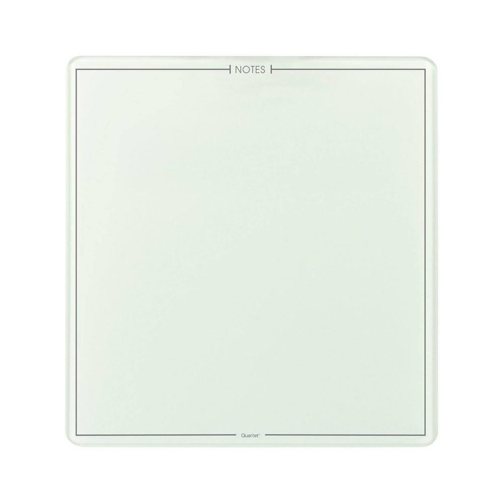 "Quartet 8"" x 8"" Glass Dry-Erase Note Pad Frameless - White"