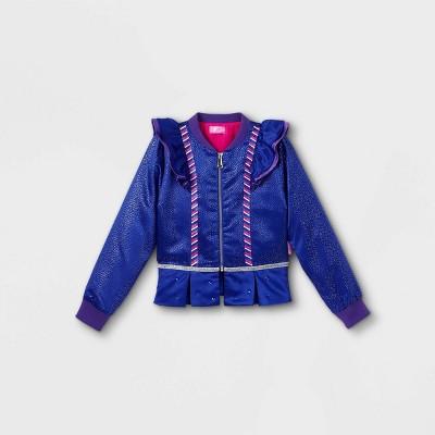 Girls' JoJo Siwa Peplum Bomber Jacket - Blue