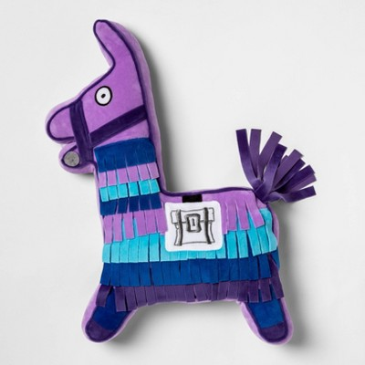 Fortnite Llama Llama Throw Pillow Purple