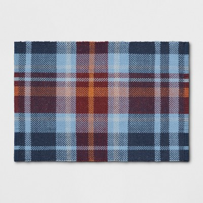 2'X3' Plaid Woven Accent Rug Blue - Threshold™