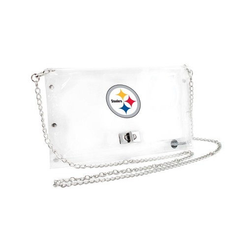 NFL Pittsburgh Steelers Clear Envelope Purse - image 1 of 1