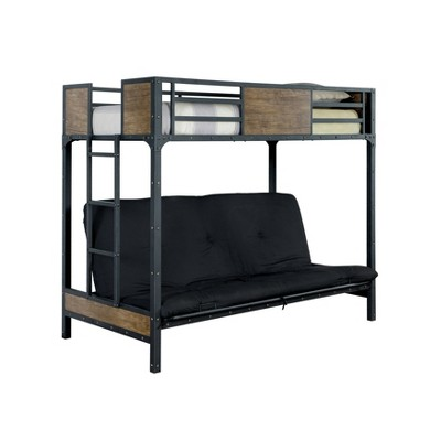 Twin Navii Kids' Bunk Bed Futon Black - HOMES: Inside + Out