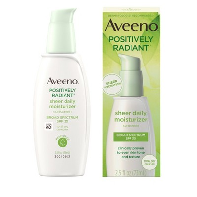 Facial Moisturizer: Aveeno Positively Radiant Sheer Daily Moisturizer