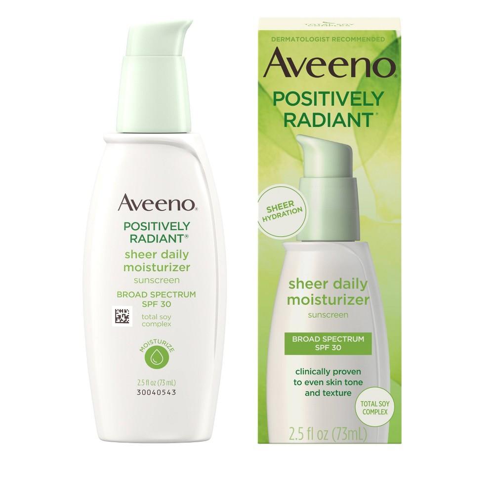 Image of Aveeno Positively Radiant Sheer Daily Moisturizing Lotion - Dry Skin - SPF 30 - 2.5 fl oz