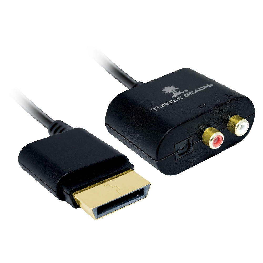 Xbox Ear Force Audio Adapter Enjoy full-on gaming with an Ear Force Xbox 360 Audio Adapter. This Xbox 360 audio adapter cable offers both Rca (stereo) audio outputs and optical audio outputs (digital) for Hdmi connections on your Xbox 360. You can use it to connect to a gaming headset or your home theater system. Connect it to Dolby Digital Surround Sound for an immersive gaming experience.