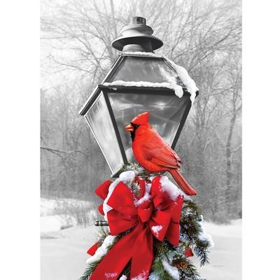 """Home & Garden 18.0"""" Cardinal Lamp Post Flag Double Sided Custom Decor  -  Flags"""