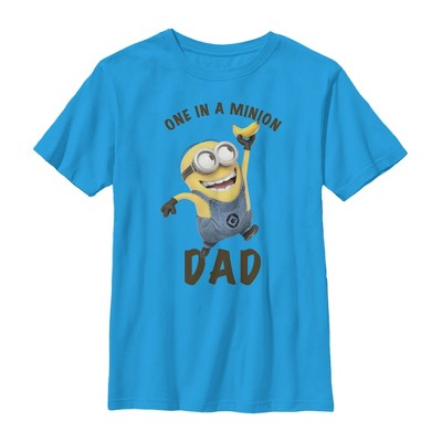Boy's Despicable Me Father's Day One in a Minion Dad T-Shirt