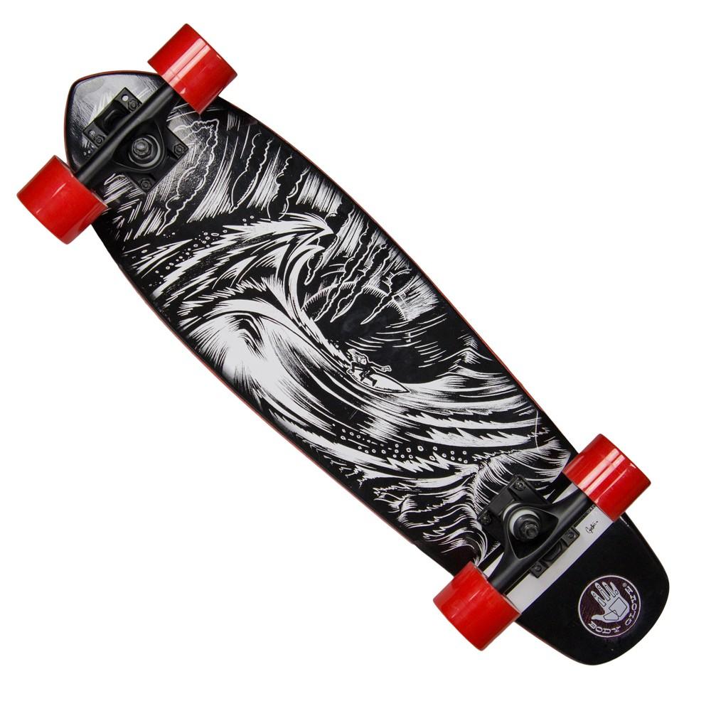 Body Glove 27 Solitude Cruiser Skateboard - Black