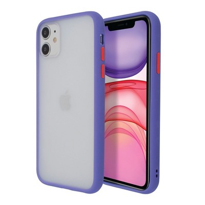 Insten Translucent Matte Case Hybrid Hard Back Soft Edges TPU Full Body Cover Compatible with Apple iPhone